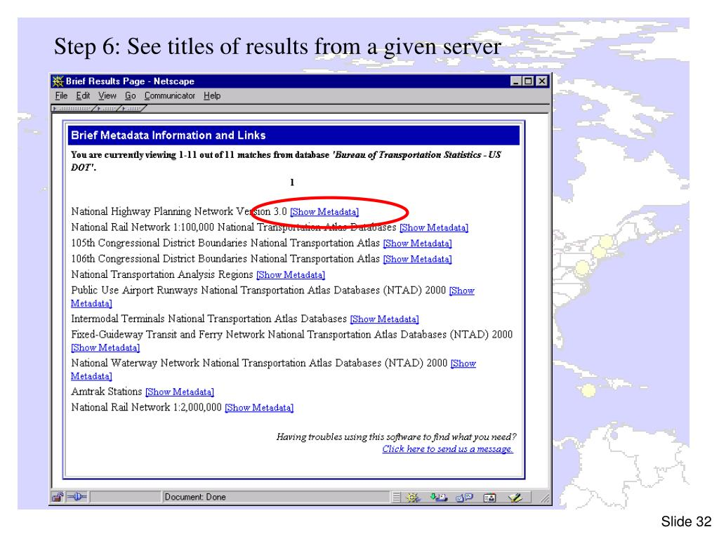 Step 6: See titles of results from a given server