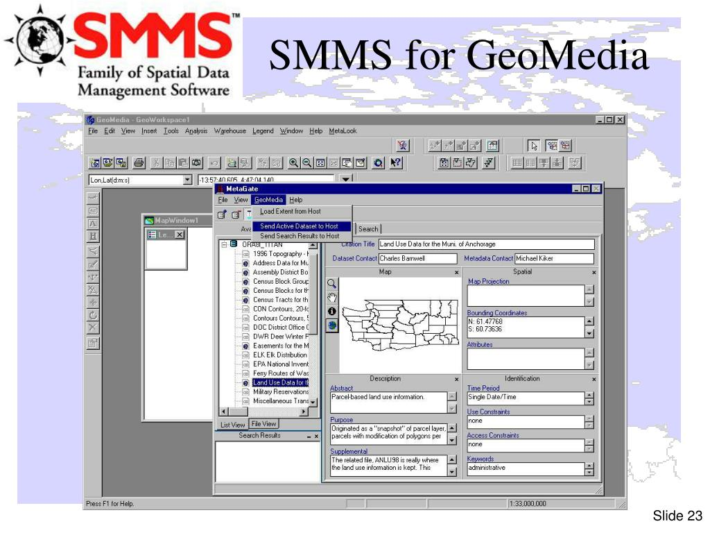 SMMS for GeoMedia