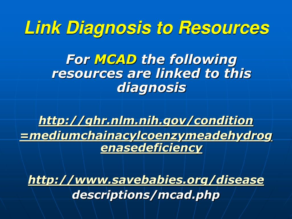 Link Diagnosis to Resources