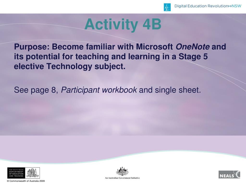 Activity 4B
