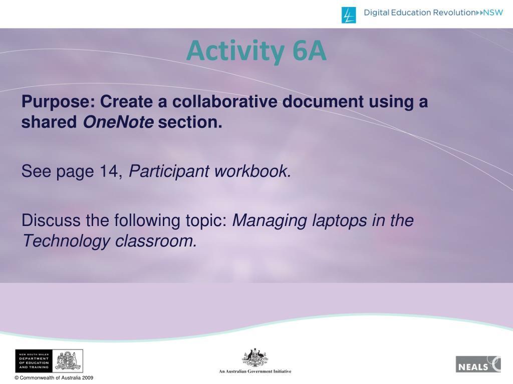 Activity 6A