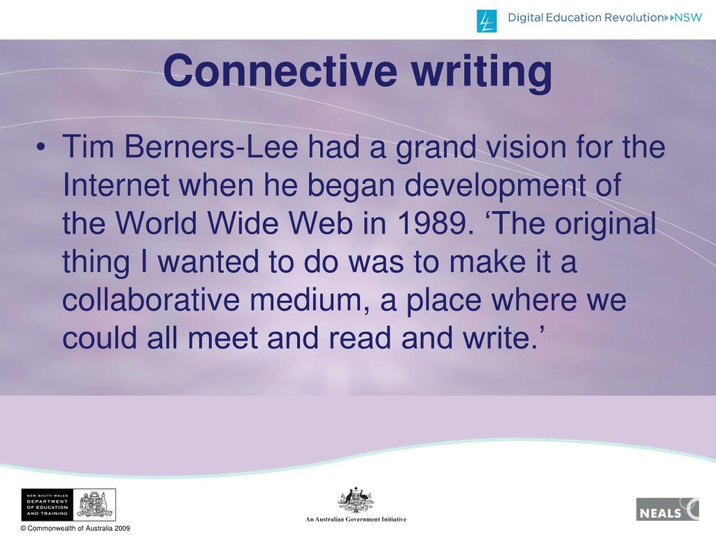 Connective writing