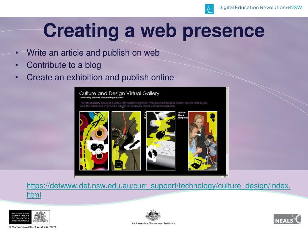 Creating a web presence