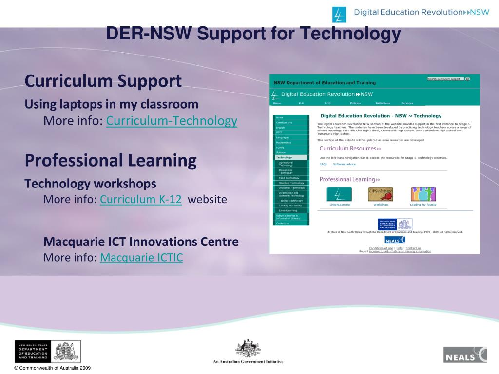 DER-NSW Support for Technology