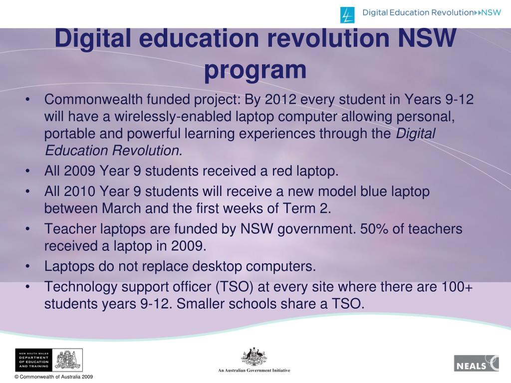 Digital education revolution NSW