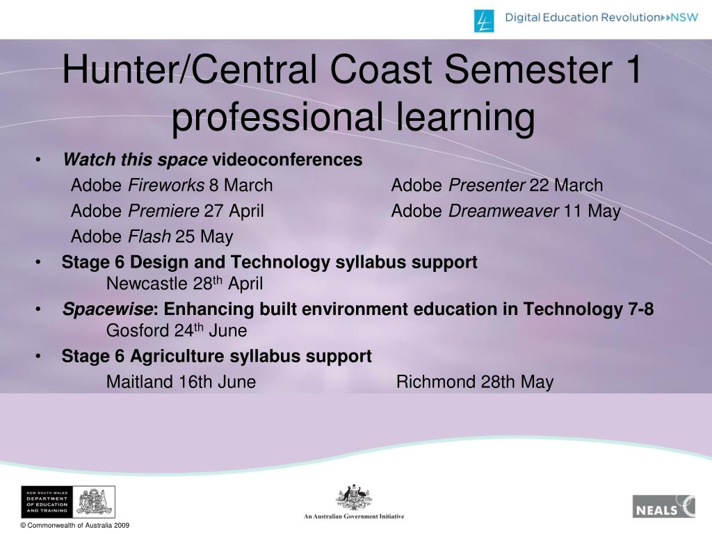 Hunter/Central Coast Semester 1