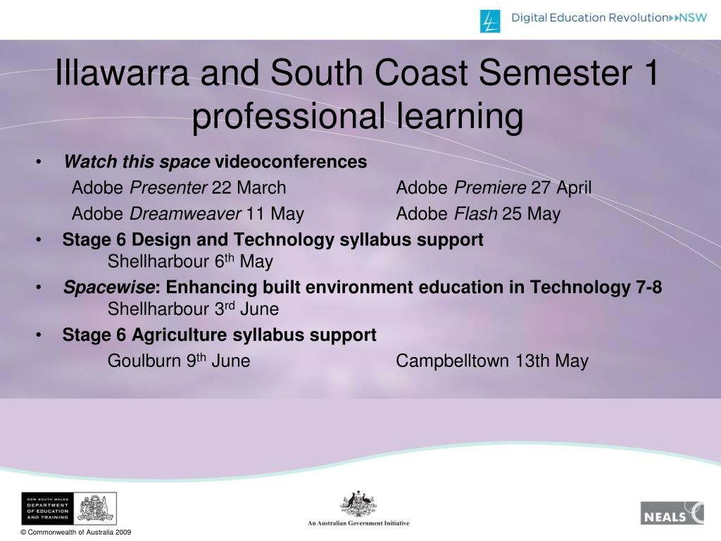 Illawarra and South Coast Semester 1