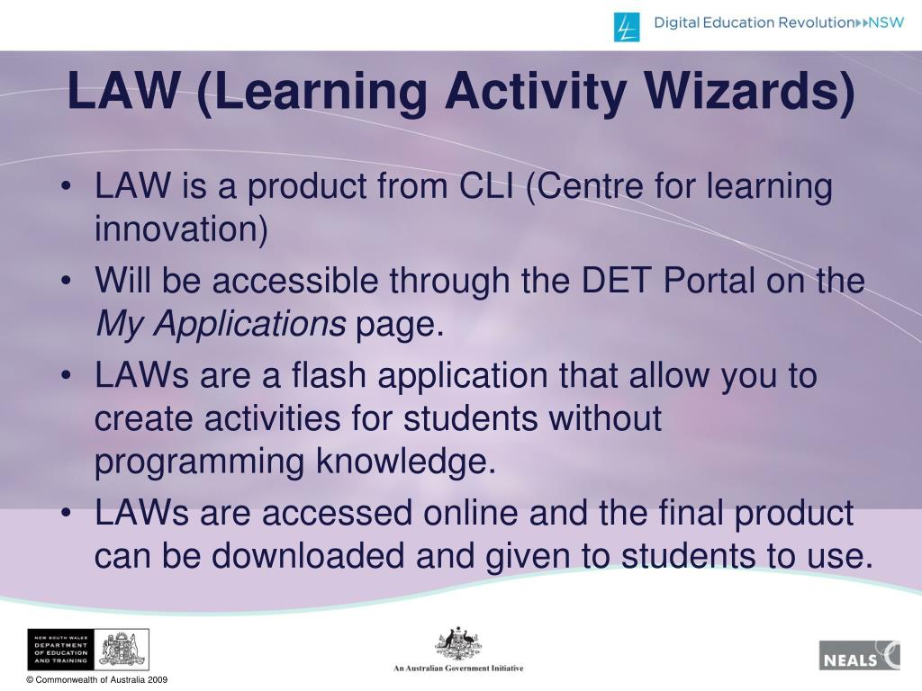 LAW (Learning Activity Wizards)