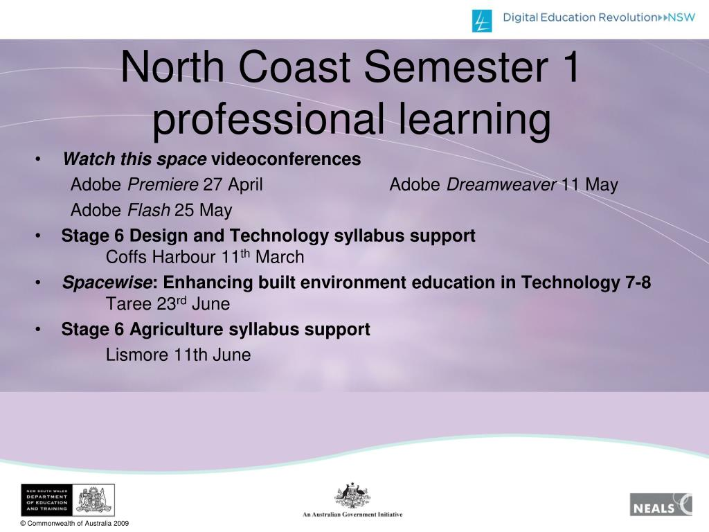 North Coast Semester 1