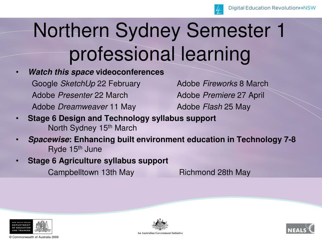 Northern Sydney Semester 1