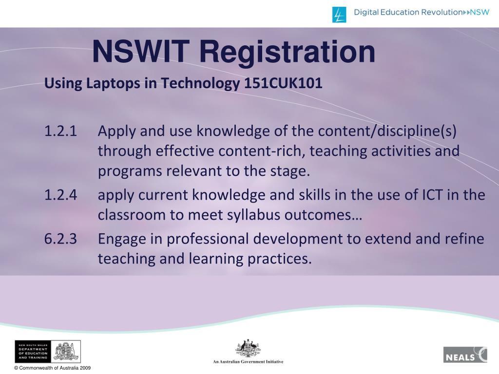 NSWIT Registration