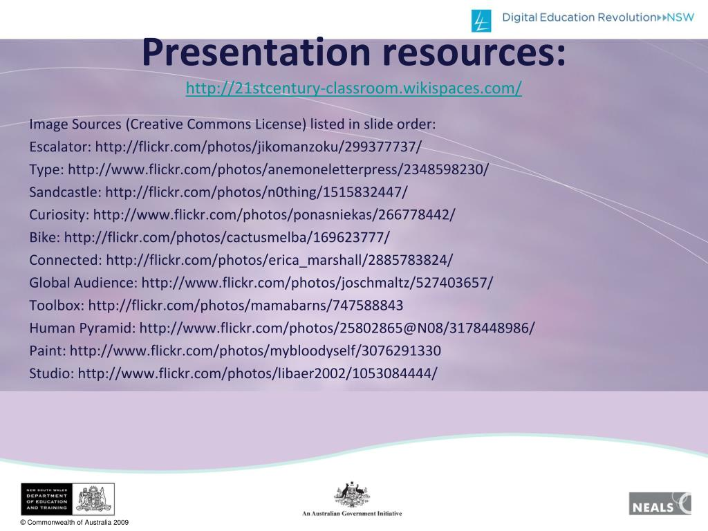 Presentation resources: