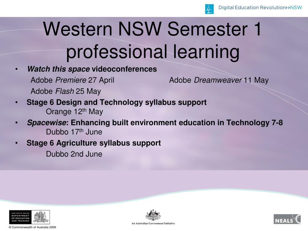 Western NSW Semester 1