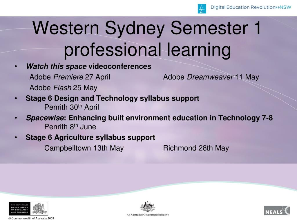 Western Sydney Semester 1