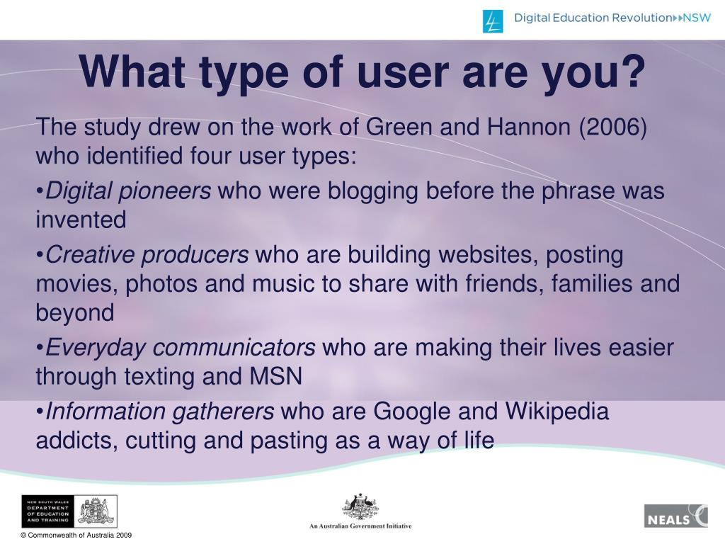 What type of user are you?