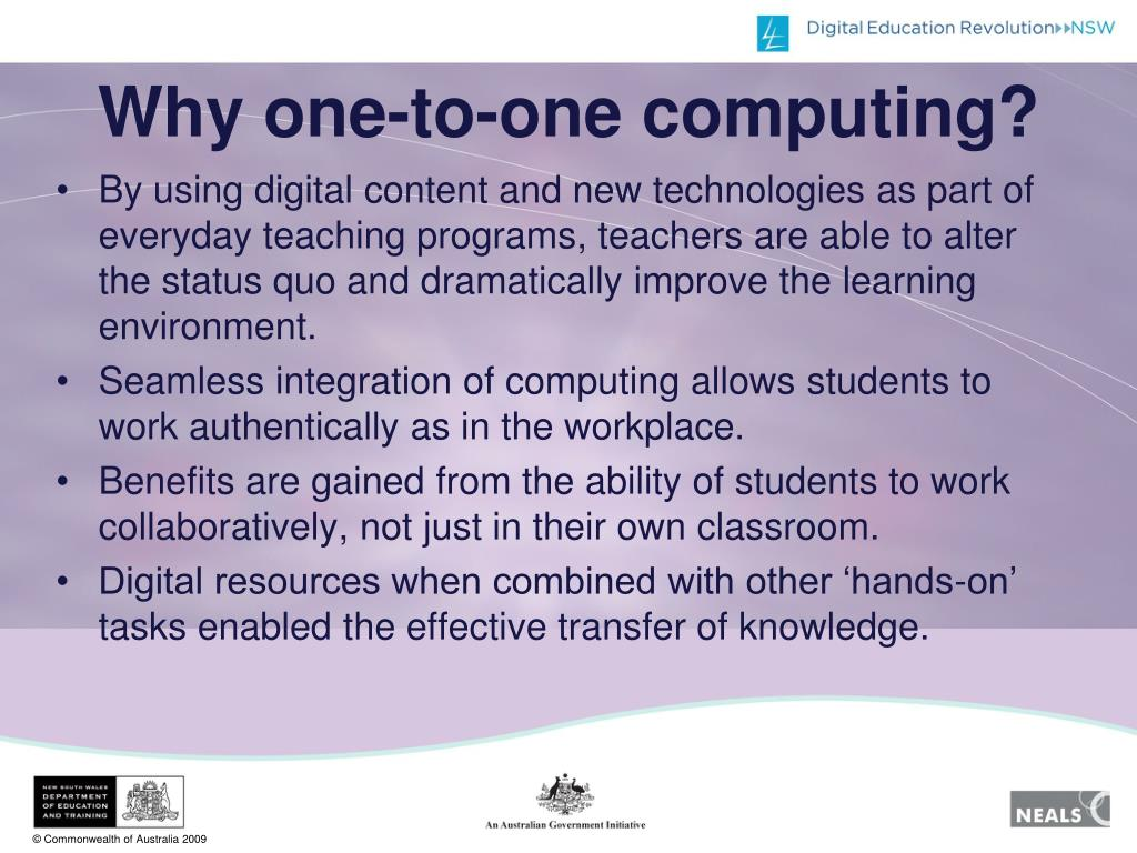 Why one-to-one computing?