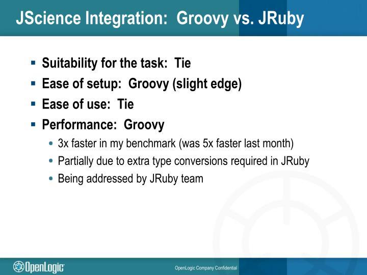JScience Integration:  Groovy vs. JRuby