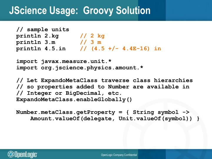 JScience Usage:  Groovy Solution
