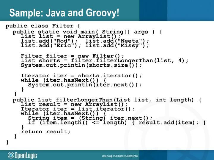 Sample: Java