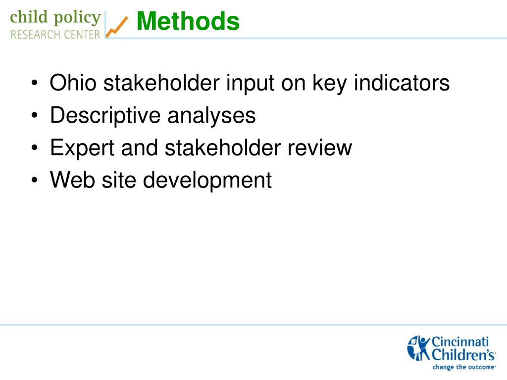 Ohio stakeholder input on key indicators