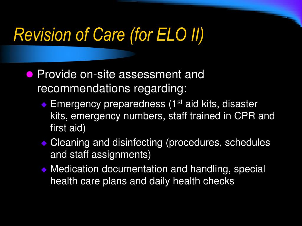 Revision of Care (for ELO II)