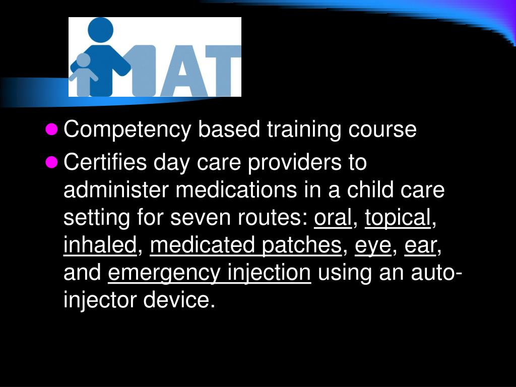 Competency based training course