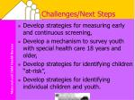 challenges next steps