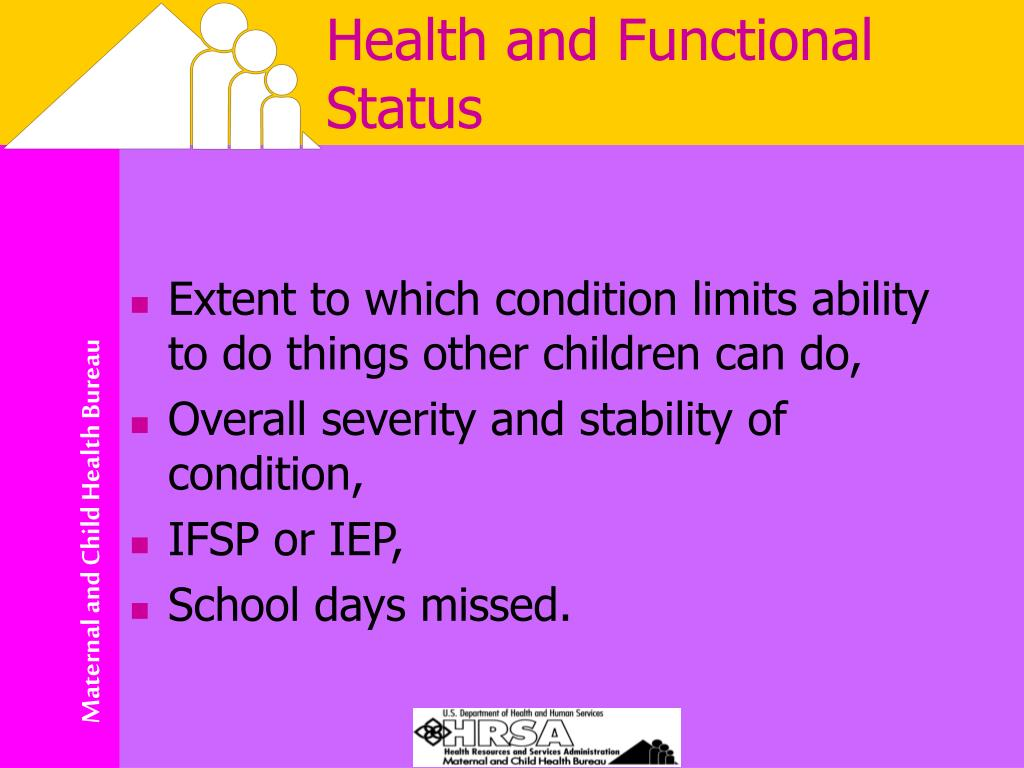 Health and Functional Status