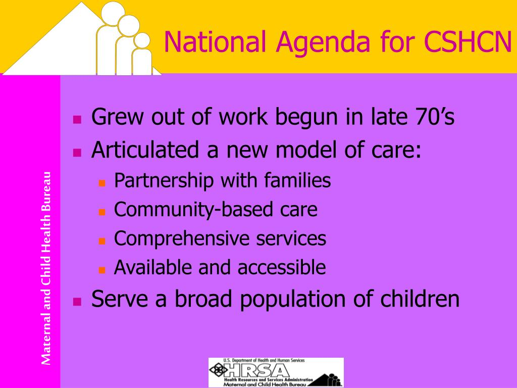National Agenda for CSHCN