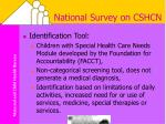 national survey on cshcn10