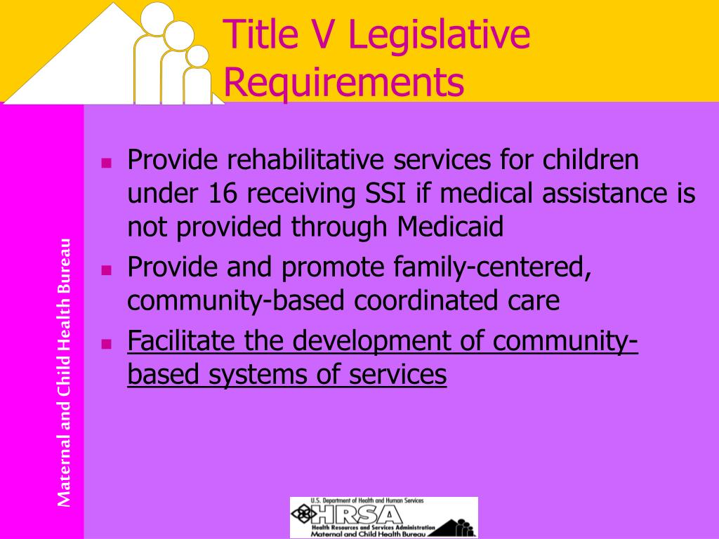 Title V Legislative