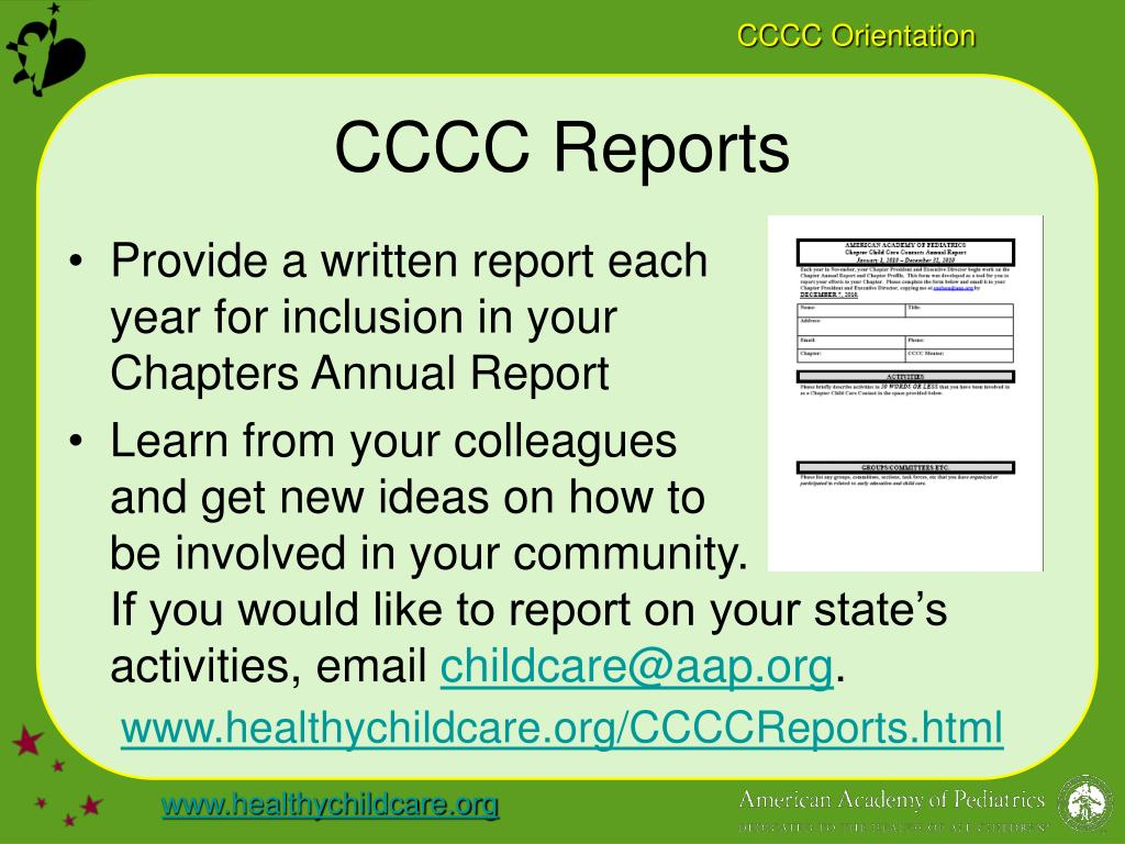 CCCC Reports