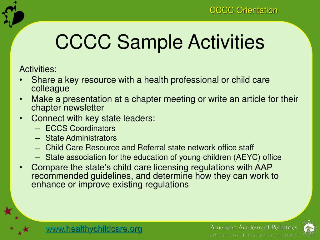 CCCC Sample Activities