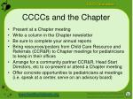ccccs and the chapter