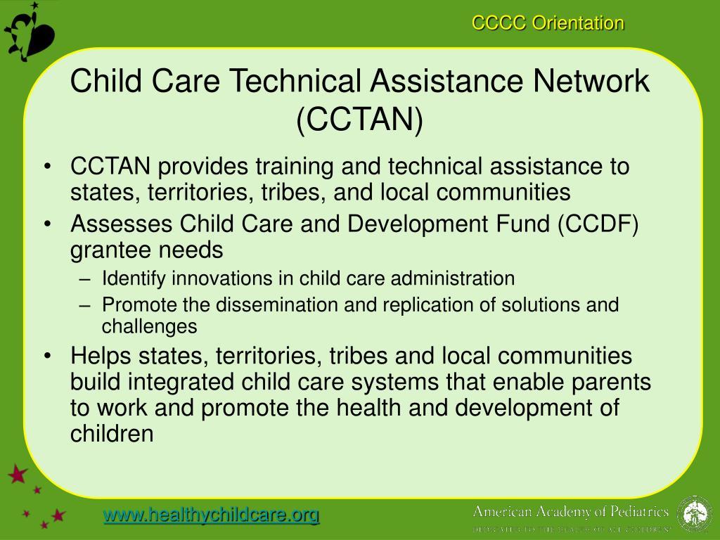 Child Care Technical Assistance Network (CCTAN)