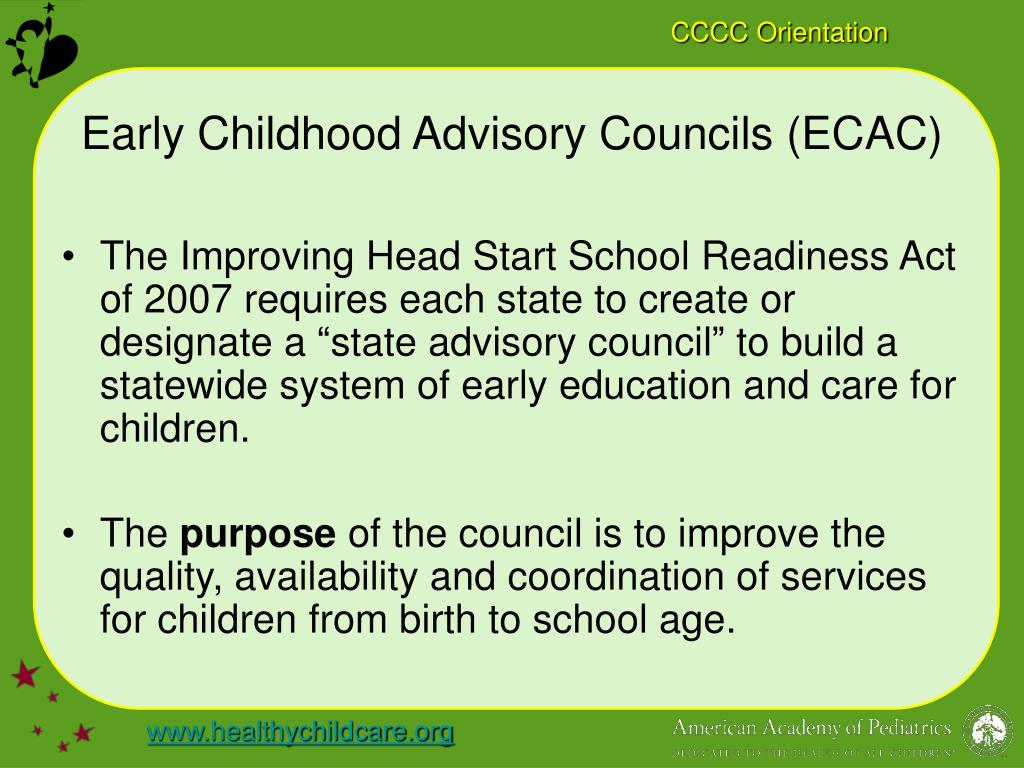 Early Childhood Advisory Councils (ECAC)