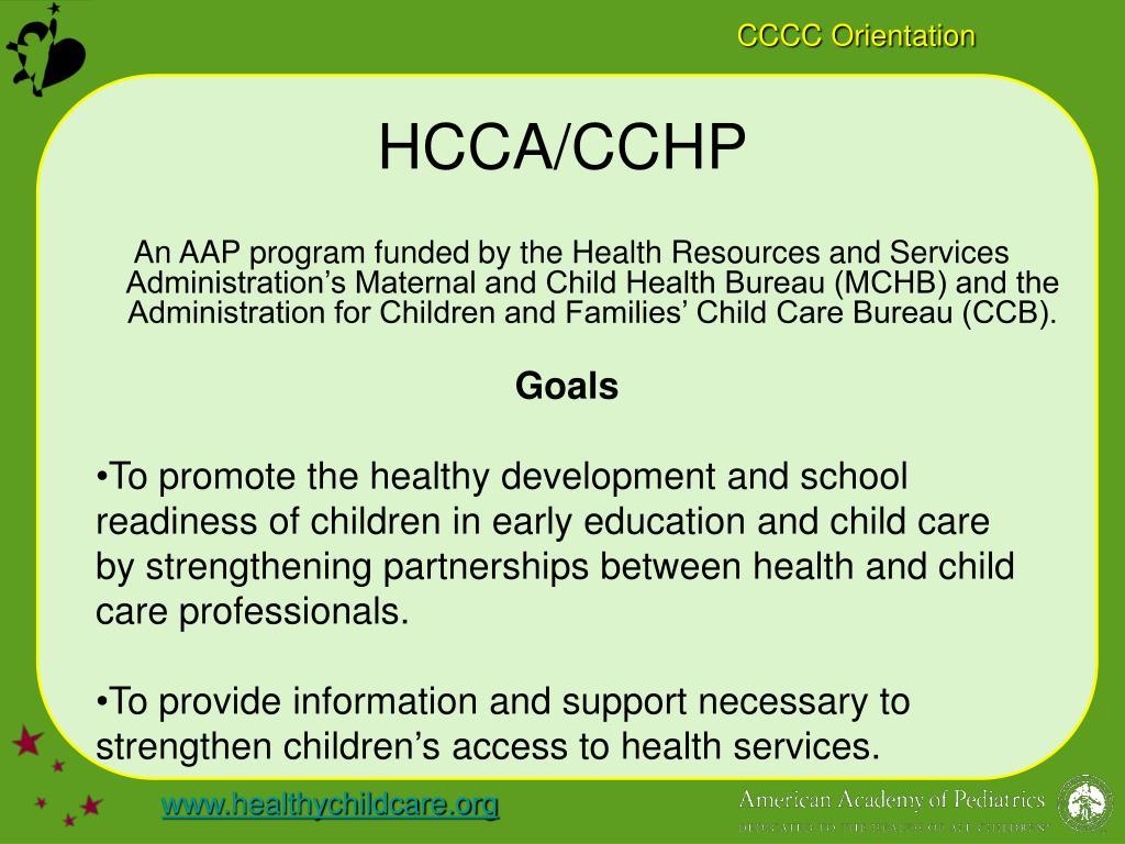 HCCA/CCHP