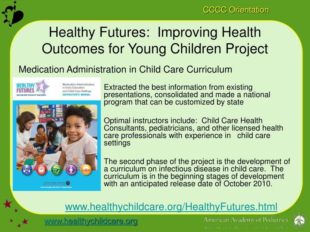 Healthy Futures:  Improving Health Outcomes for Young Children Project