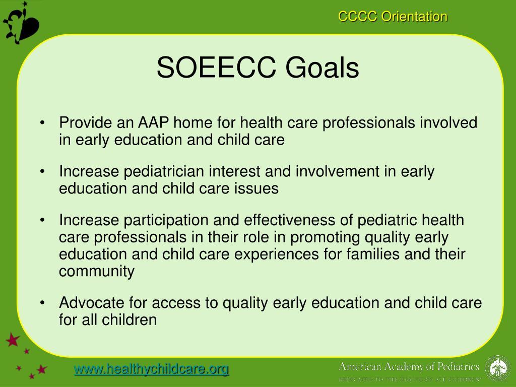 SOEECC Goals