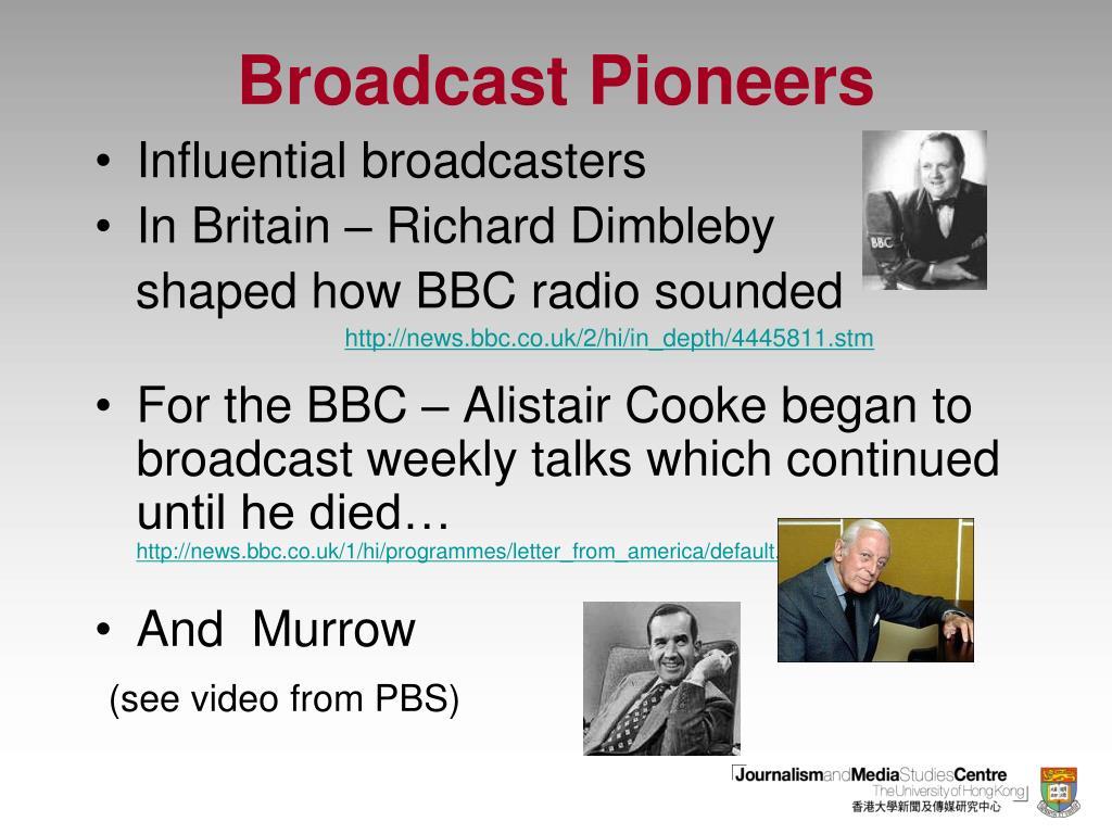 Broadcast Pioneers