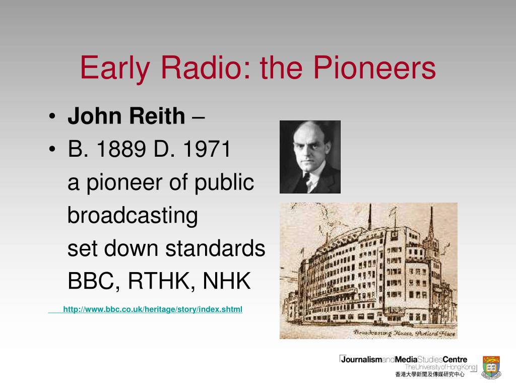 Early Radio: the Pioneers