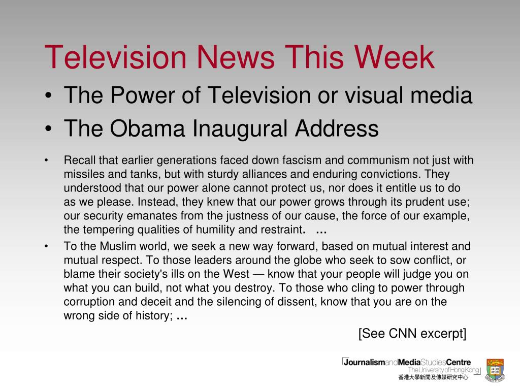 Television News This Week