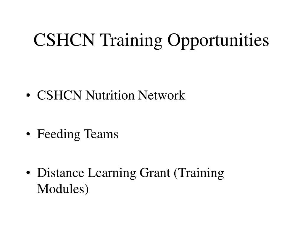 CSHCN Training Opportunities