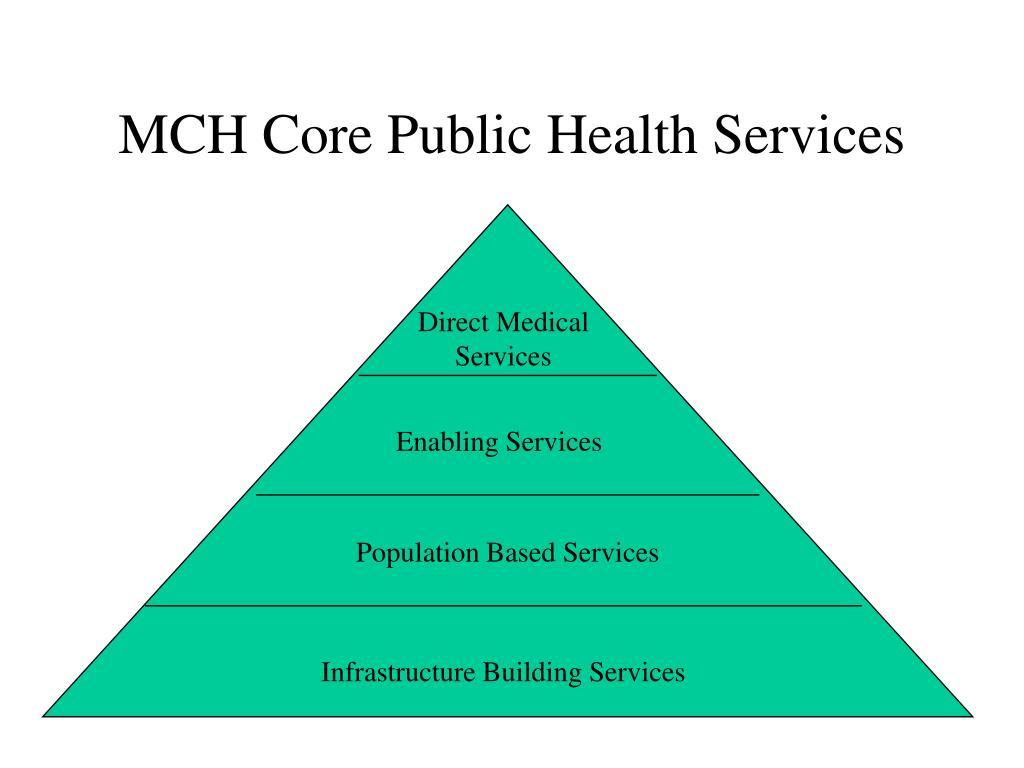 MCH Core Public Health Services