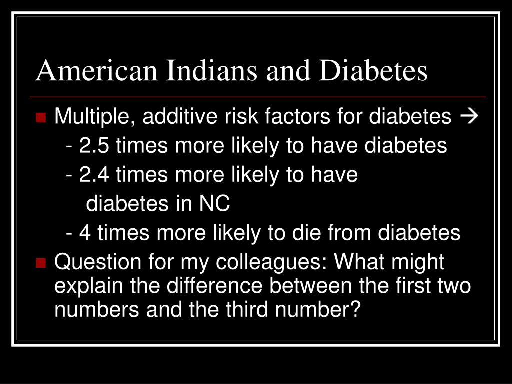 American Indians and Diabetes