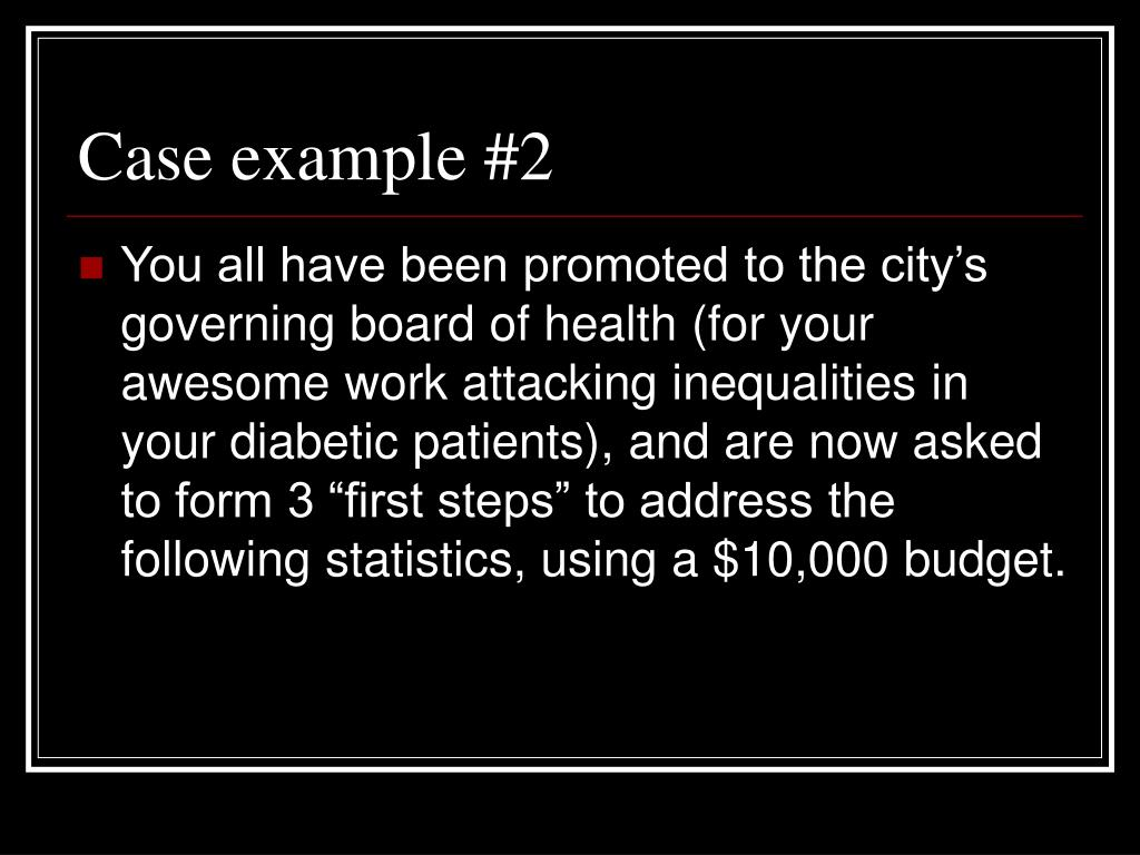 Case example #2