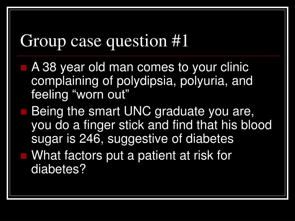 Group case question #1