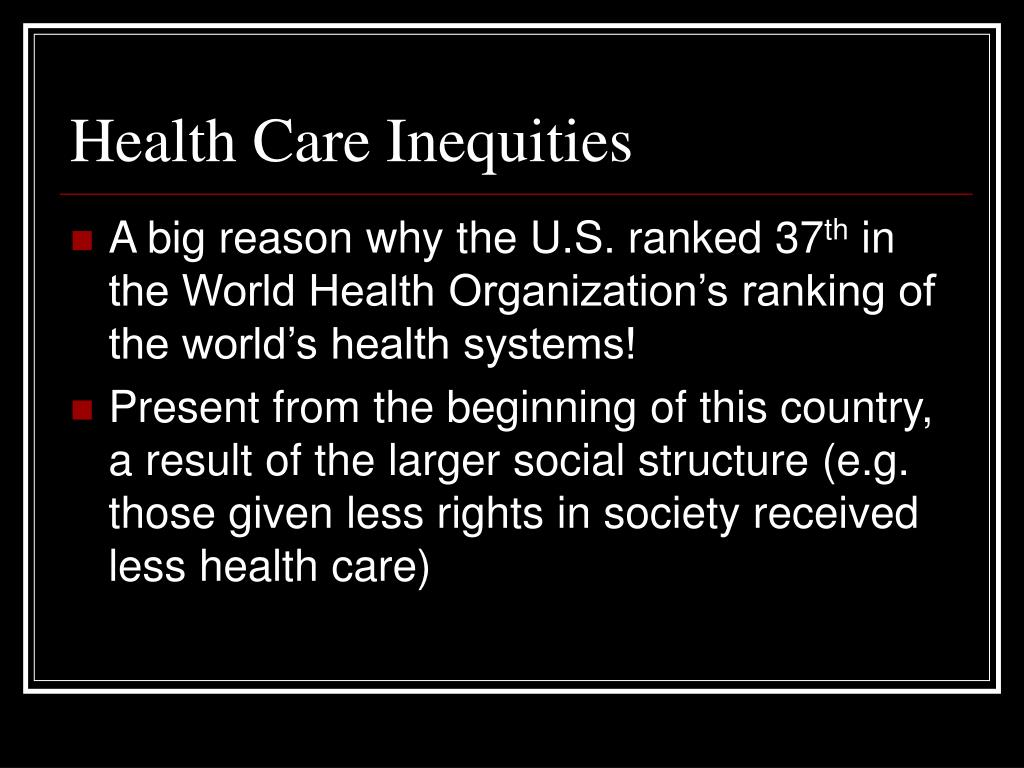 Health Care Inequities