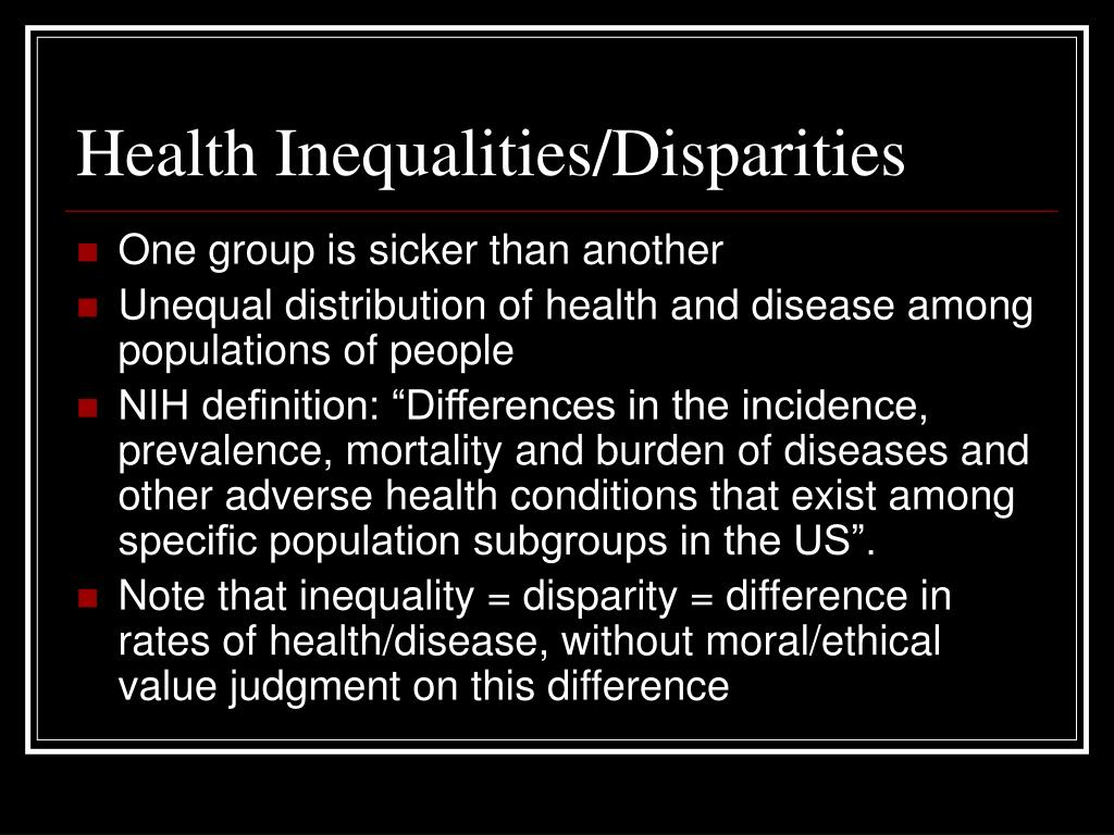 Health Inequalities