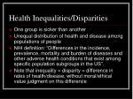 health inequalities disparities